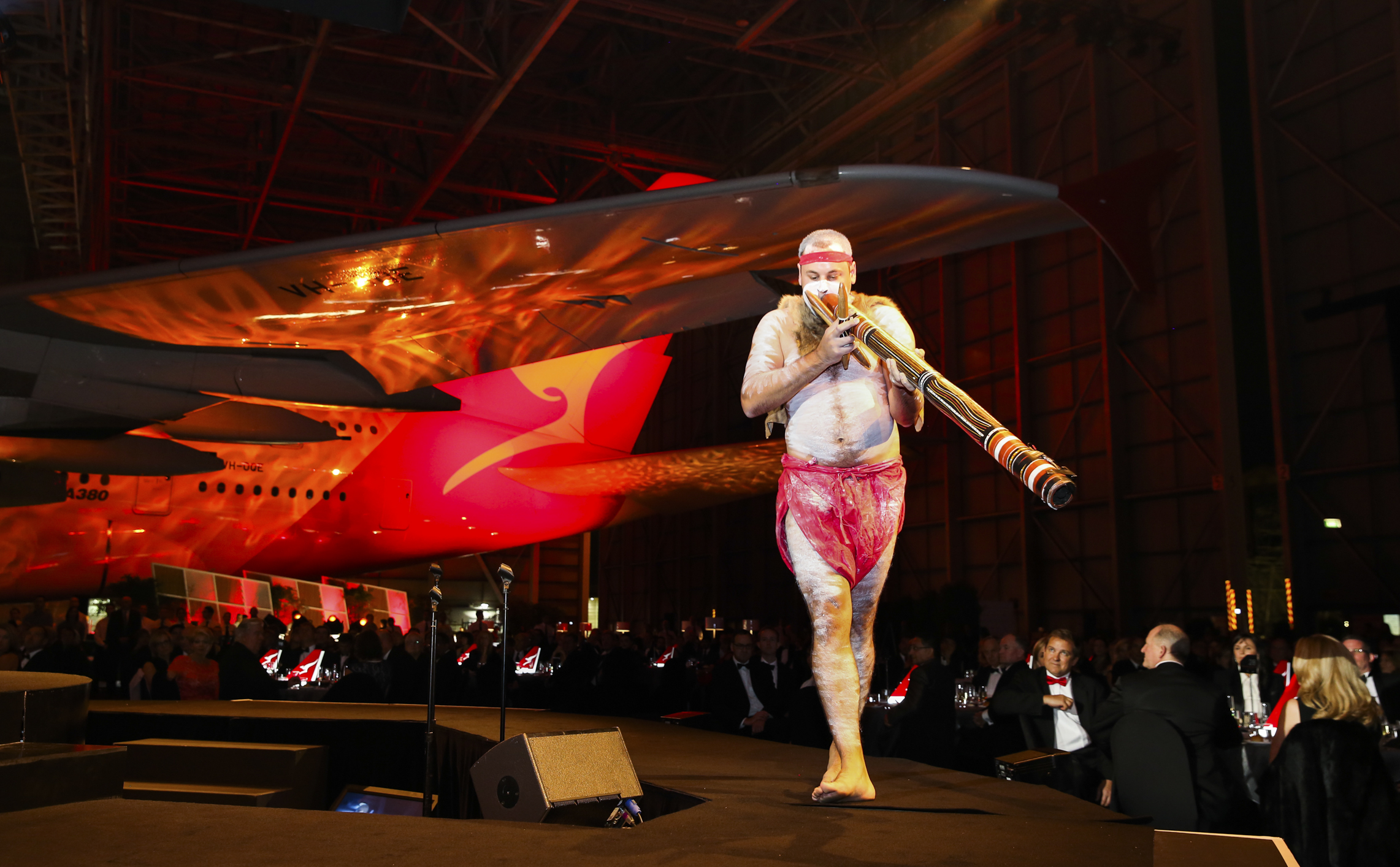 David Williams Gilimbaa didgeridoo performer Qantas